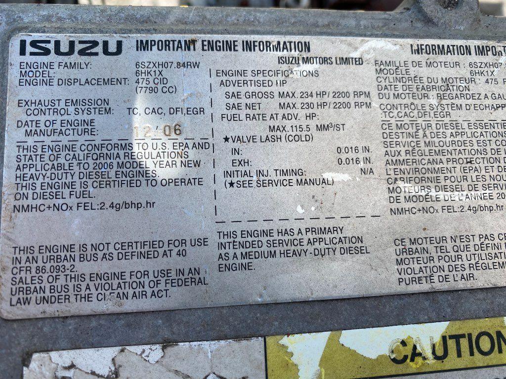 2007 ISUZU 6HK1X ENGINE 234HP